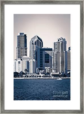 San Diego Skyline Framed Print by Paul Velgos