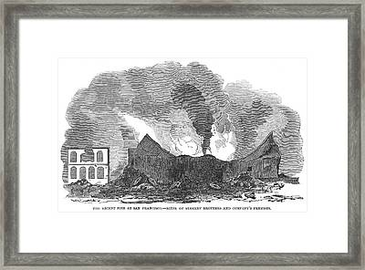 San Francisco: Fire, 1851 Framed Print