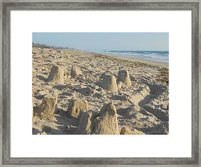 Sand Play Framed Print by Sheila Silverstein