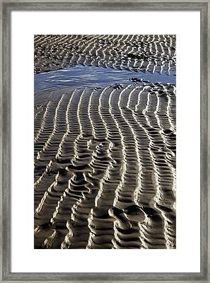 Sand Ripples At Low Tide Framed Print by Dr Keith Wheeler