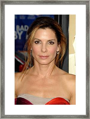 Sandra Bullock At Arrivals For All Framed Print