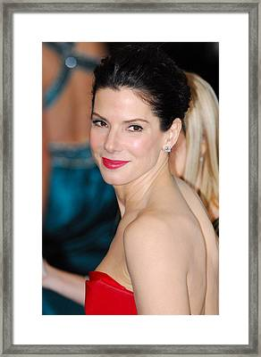 Sandra Bullock At Arrivals For The 83rd Framed Print