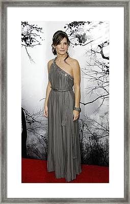 Sandra Bullock Wearing A Lanvin Dress Framed Print by Everett