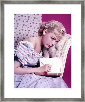 Sandra Dee, C. 1959 Framed Print