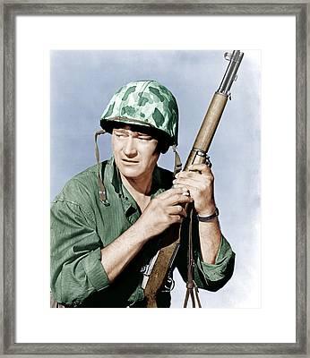 Sands Of Iwo Jima, John Wayne, 1949 Framed Print by Everett