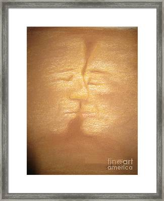 Sandstorm Framed Print by Safa Al-Rubaye
