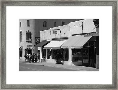 Santa Fe Shops Framed Print by Frank Romeo