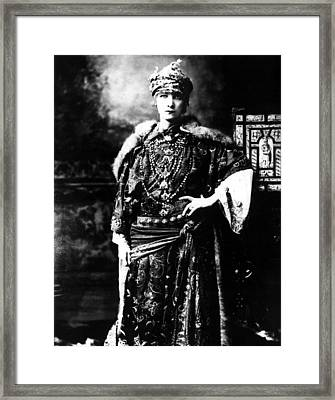 Sarah Bernhardt 1844-1923, Undated Framed Print by Everett