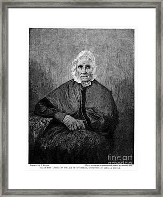 Sarah Bush Lincoln Framed Print