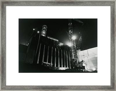 Sarcophagus Containing Chernobyl's Core. Framed Print by Ria Novosti
