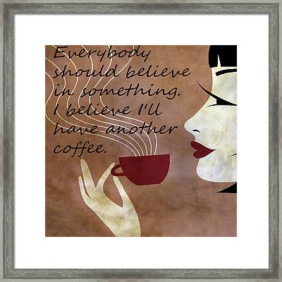 Sassy Belief Framed Print by Angelina Vick