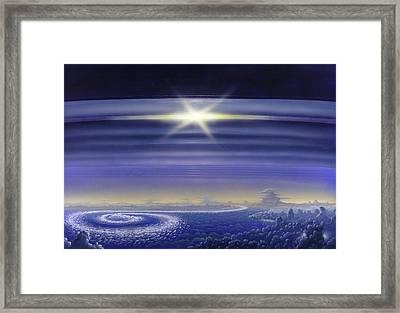 Saturn's Rings, Artwork Framed Print by Richard Bizley