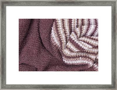 Scarf From Wool Manual Are Viscous Framed Print by Aleksandr Volkov