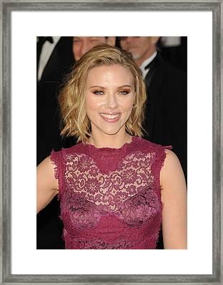 Scarlett Johansson At Arrivals For The Framed Print by Everett