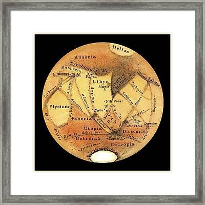 Schiaparelli's Observations Of Mars Framed Print by Detlev Van Ravenswaay