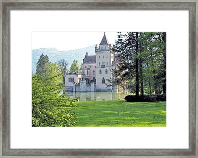 Framed Print featuring the photograph Schloss Anif by Joseph Hendrix