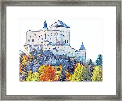Schloss Tarasp Switzerland Framed Print by Joseph Hendrix