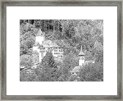 Schloss Wimmis And Church Wimmis Switzerland Framed Print by Joseph Hendrix