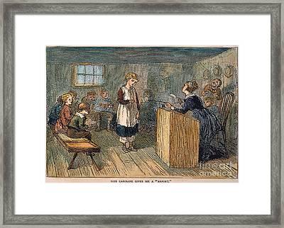 Schoolhouse, 1877 Framed Print
