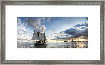 Schooner Pride Sunset Charleston Sc Framed Print by Dustin K Ryan