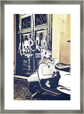 Scooter Framed Print by Joana Kruse