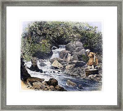 Scotland: Washing Laundry Framed Print by Granger