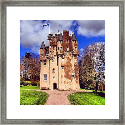 Scottish Castle Framed Print by Luisa Azzolini