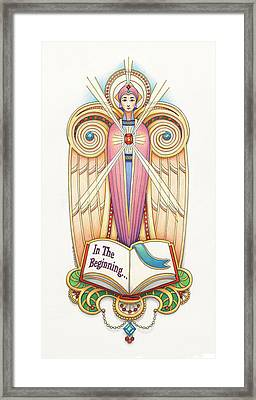Scroll Angel - Ionica Framed Print by Amy S Turner