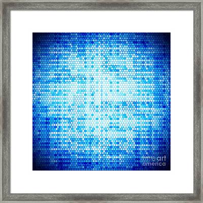 Seamless Honeycomb Pattern Framed Print