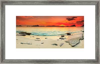 Seascape Panorama Framed Print by MotHaiBaPhoto Prints