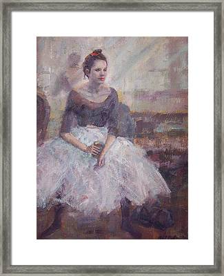 Seated Ballerina Framed Print