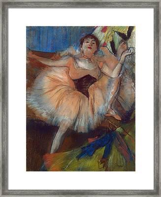 Seated Dancer Framed Print