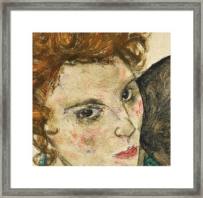 Seated Woman With Bent Knee Framed Print