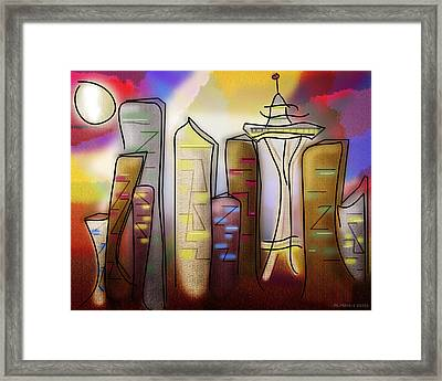 Seattle Framed Print by Melisa Meyers