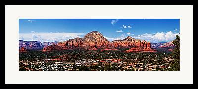 Mountains In Sedona Framed Prints