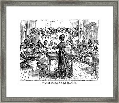 Segregated School, 1870 Framed Print