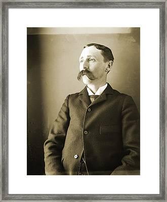 Self-portrait Of The Artist Framed Print by Jan W Faul