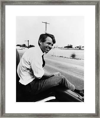 Senator Robert F. Kennedy Framed Print