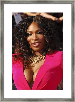 Serena Williams At Arrivals For The Framed Print