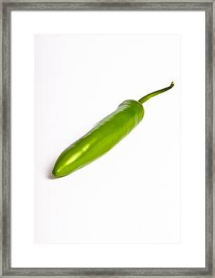 Serrano Pepper Framed Print by Photo Researchers, Inc.