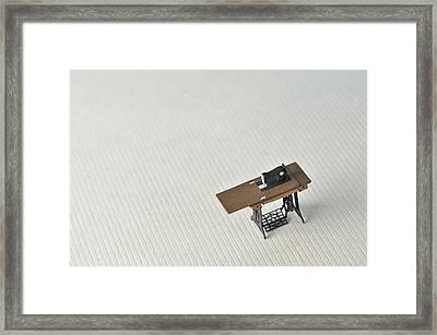 Sewing Machine Table Model Made ??of Paper Framed Print by Yagi Studio