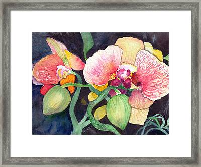 Framed Print featuring the painting Shangri La by AnnE Dentler