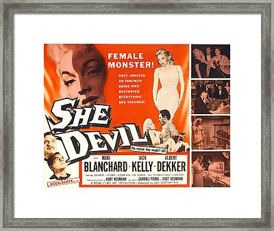 She Devil, Blonde Woman Featured Framed Print by Everett