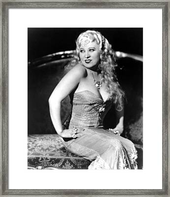 She Done Him Wrong, Mae West, 1933 Framed Print by Everett