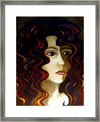 Framed Print featuring the painting She by Monica Furlow