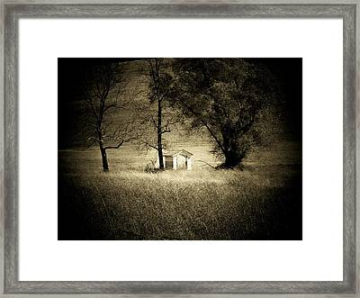 Shed And Trees Framed Print
