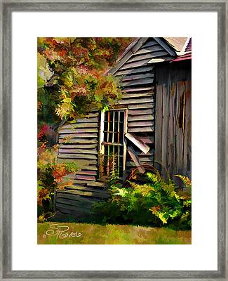 Shed Framed Print by Suni Roveto