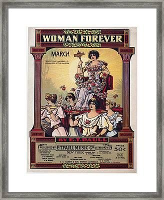 Sheet Music Cover, 1916 Framed Print by Granger