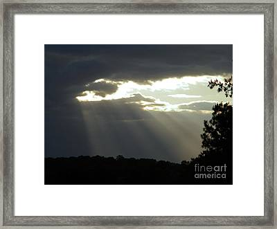 Shinning Through Framed Print