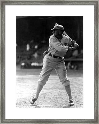 Shoeless Joe Jackson, Batting Practice Framed Print